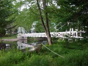 Wanakena Foot Bridge over the Oswegatchie